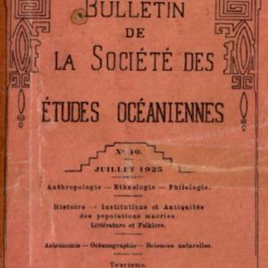 Bulletin de la Société des Études Océaniennes numéro 10