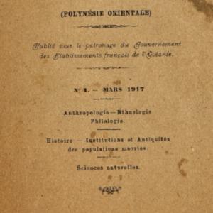 Bulletin de la Société des Études Océaniennes numéro 01